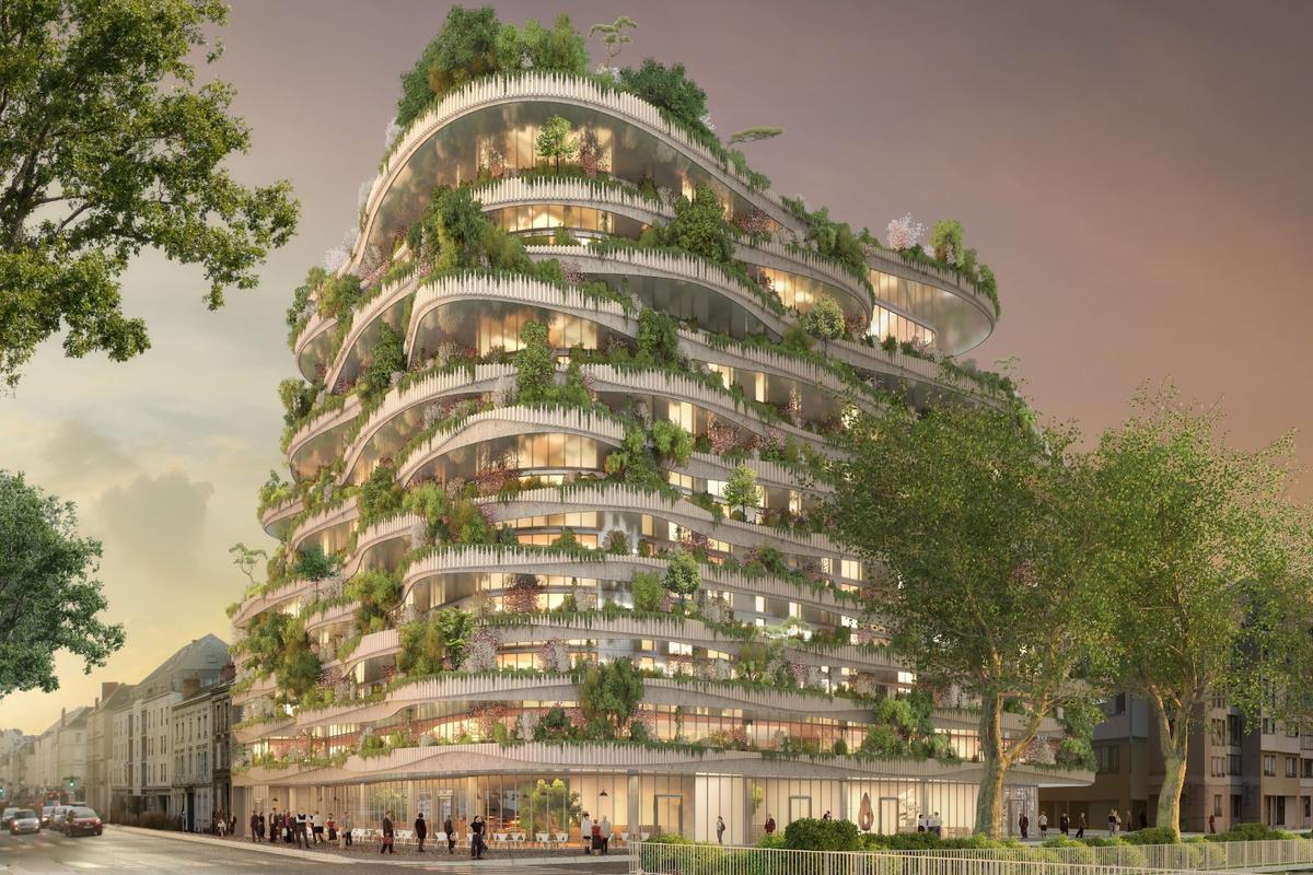 Arboricole was designed for an architectural competition and is envisioned for Angers, France
