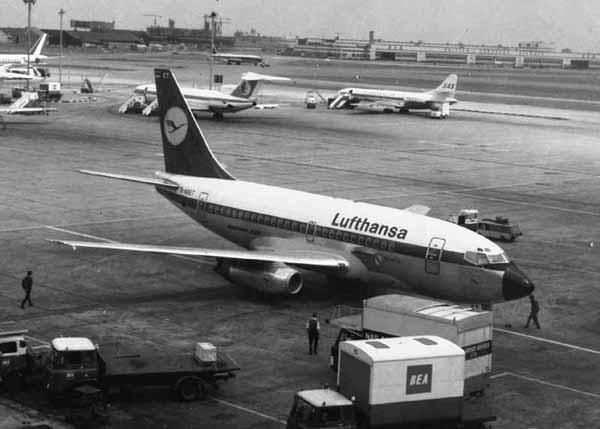 The Boeing 737-130 was originally delivered to Lufthansa Airlines in December 1968