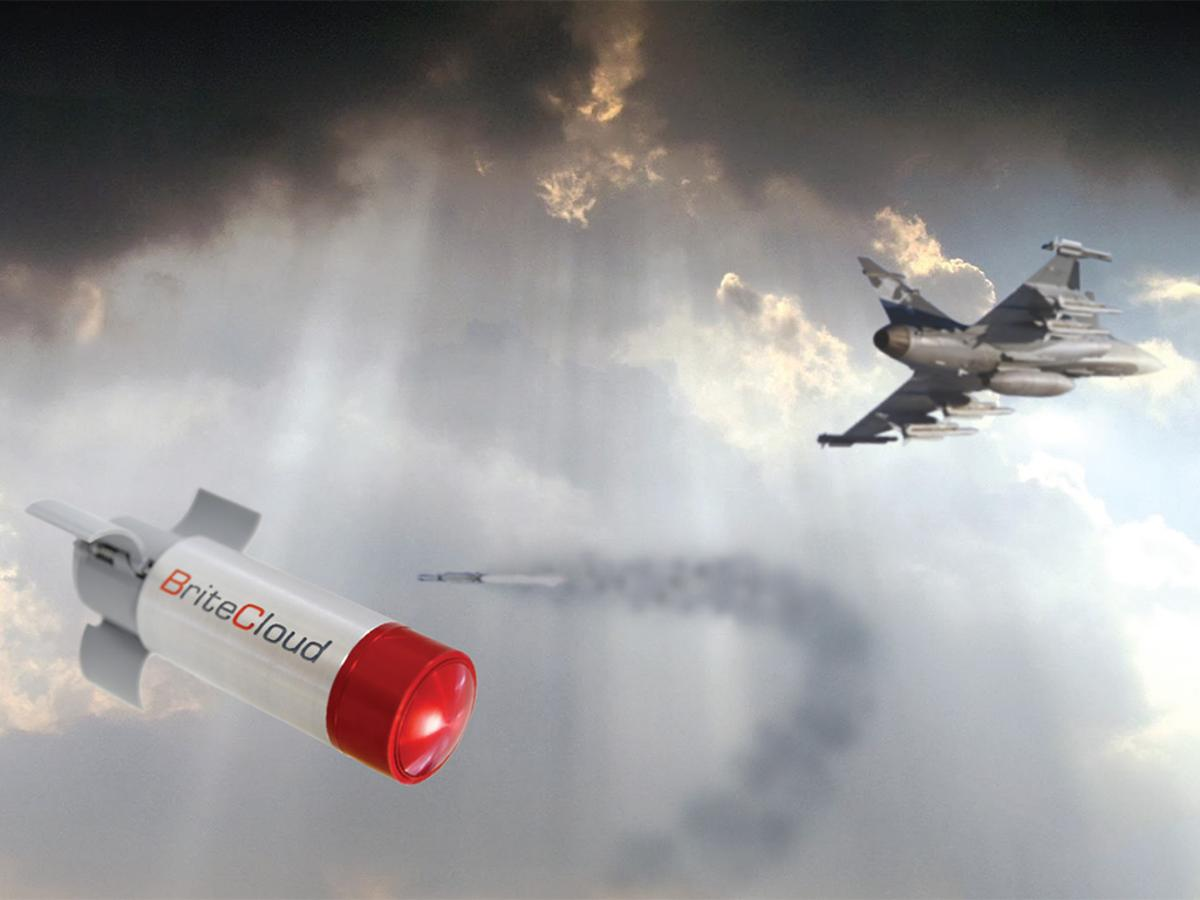 The BriteCloud missile decoy system is being tested on RAF Typhoons