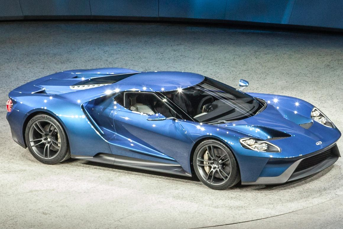 Designed as a showcase for its next-generation EcoBoost engine and lightweight construction technologies, the GT boasts the most powerful EcoBoost production engine ever and is one of at least 12 new Ford Performance vehicles promised over the next four years (Photo: Loz Blain/Gizmag.com)