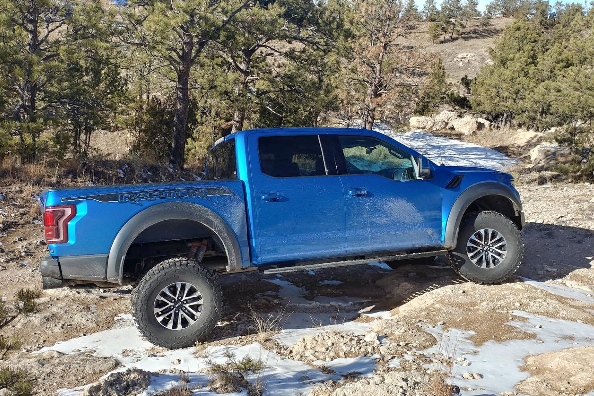 Onething we noticed in our week of off-pavement good times in the 2019 Ford F-150 Raptor was the amazing amount of wheel reach it achieves