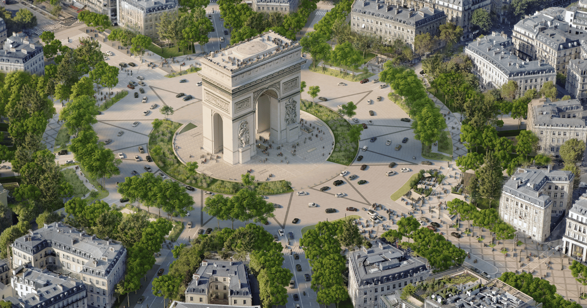 Champs-Élysées redesign turns Paris streets from gray to green