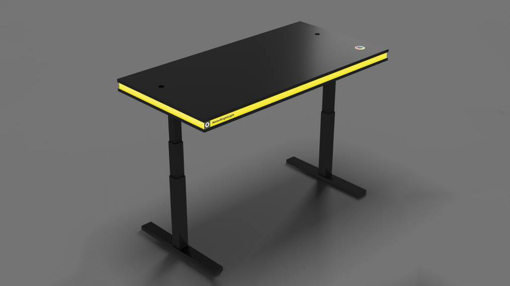 The MisterBrightLight standing desk prompts users to get to their feet when they've been seated for too long