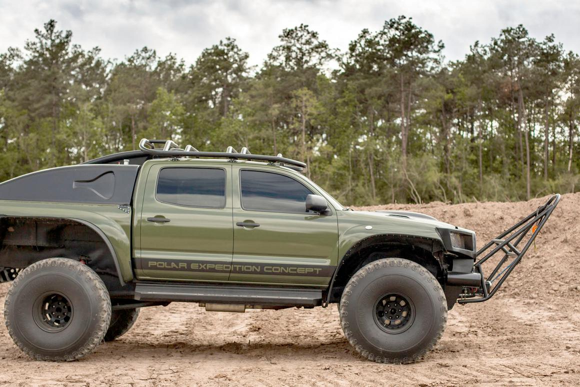 For auction: an instant starter kit for would-be polar explorers in the form of the world record setting Thomson Reuters Eikon Polar Expedition vehicle that began life as a 2010 Toyota Tacoma