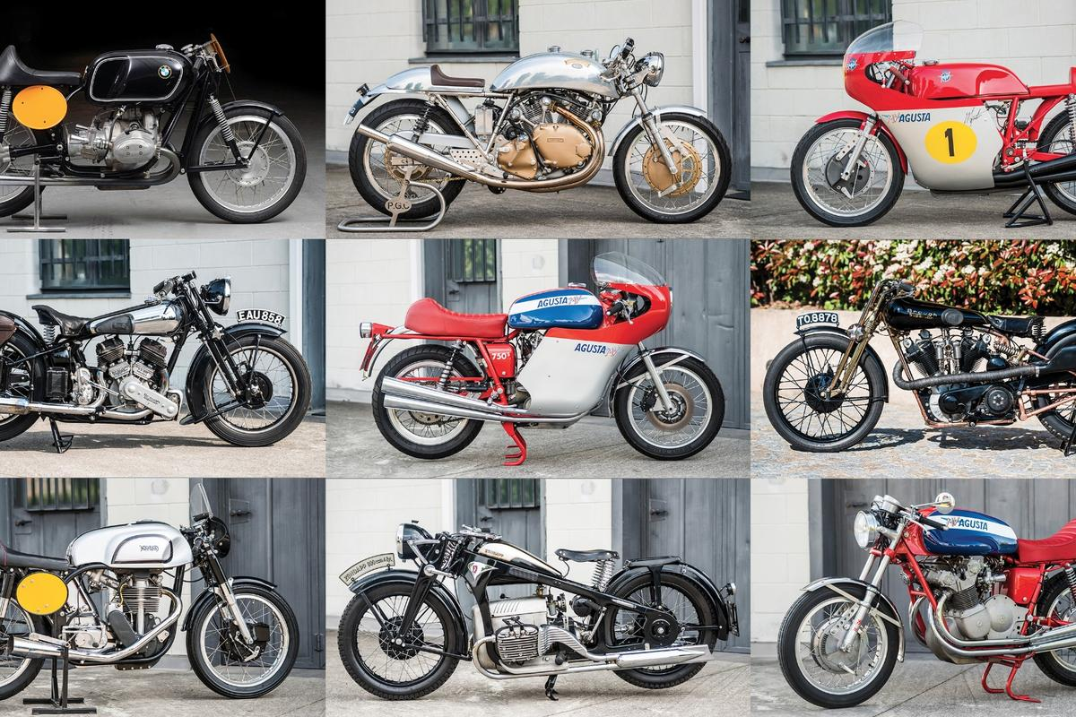 Some of the bikes that went to auction during the Villa Erba auction last Saturday