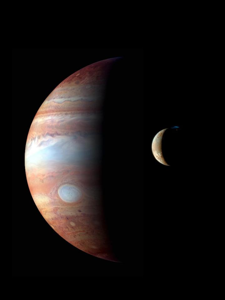 Io, pictured here orbiting Jupiter in 2007, has more company than we thought: astronomers have discovered 12 new moons orbiting the gas giant
