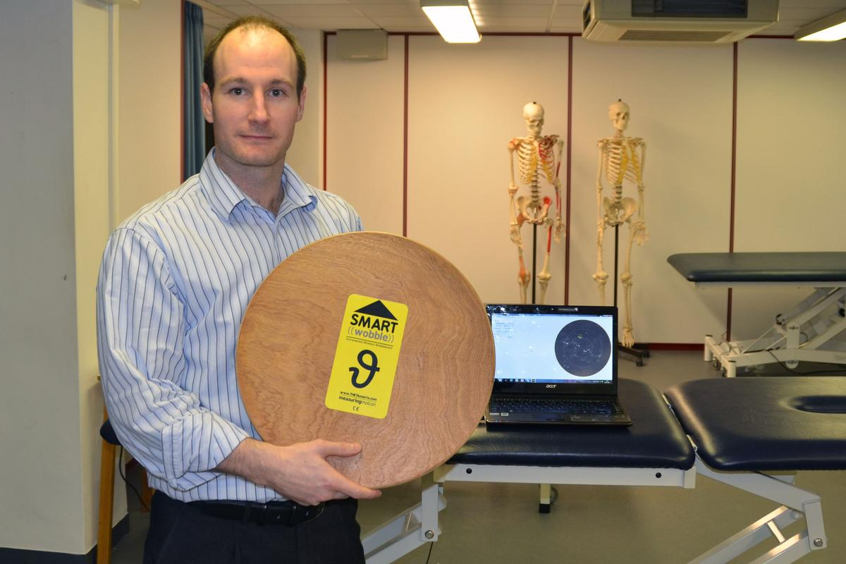Dr Jonathan Williams and the SMARTwobble that objectively measures improvements in a patient's balance
