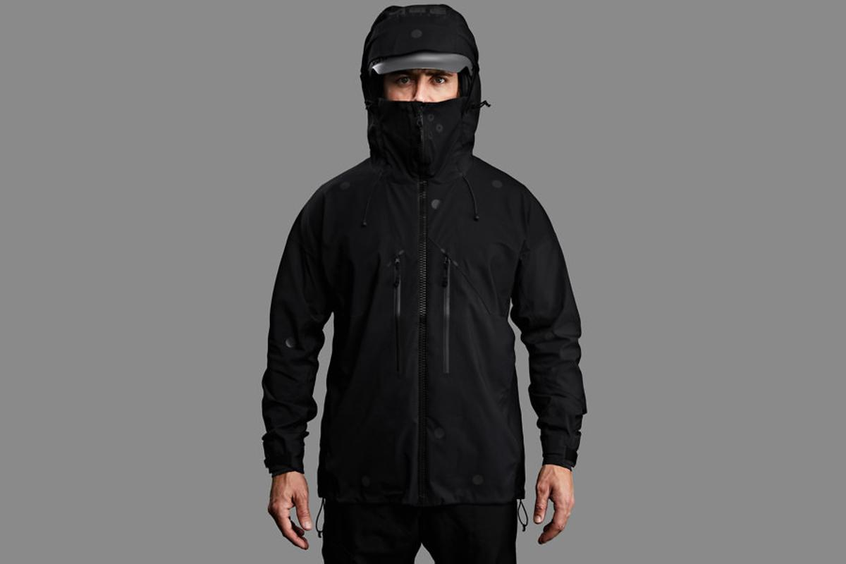 Vollebak's Black Light jacket, as seen in the daylight
