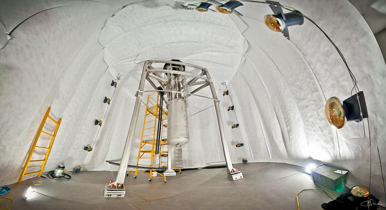 The LUX Dark Matter Experiment operates a mile underground at the Sanford Underground Research Facility:Its location helpsshield the detector from background radiation that could confound a dark matter signal