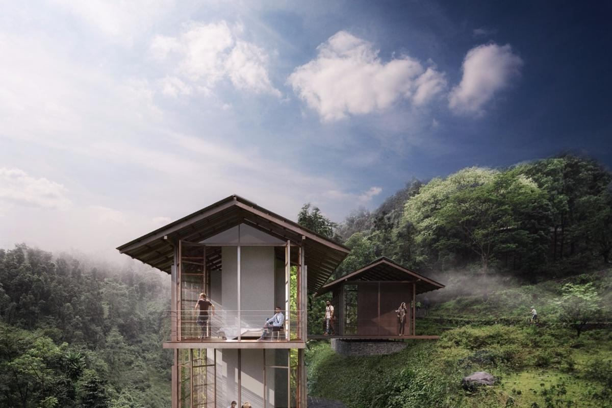 The Pankhasari Retreat will be located in a valley in the Darjeeling region of West Bengal, India