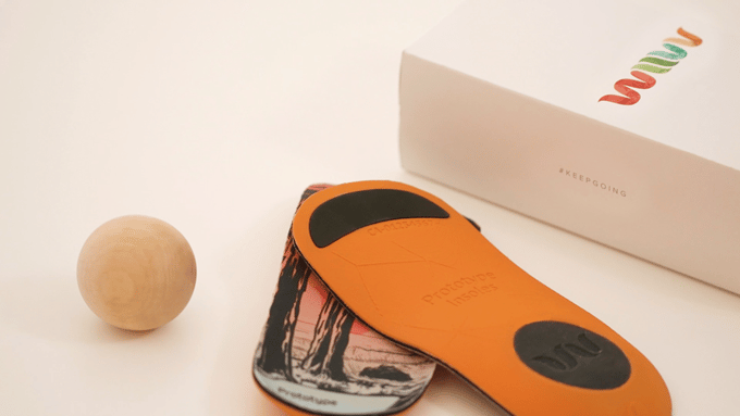 Prototype of the Wiivv Base 3D-printed insole