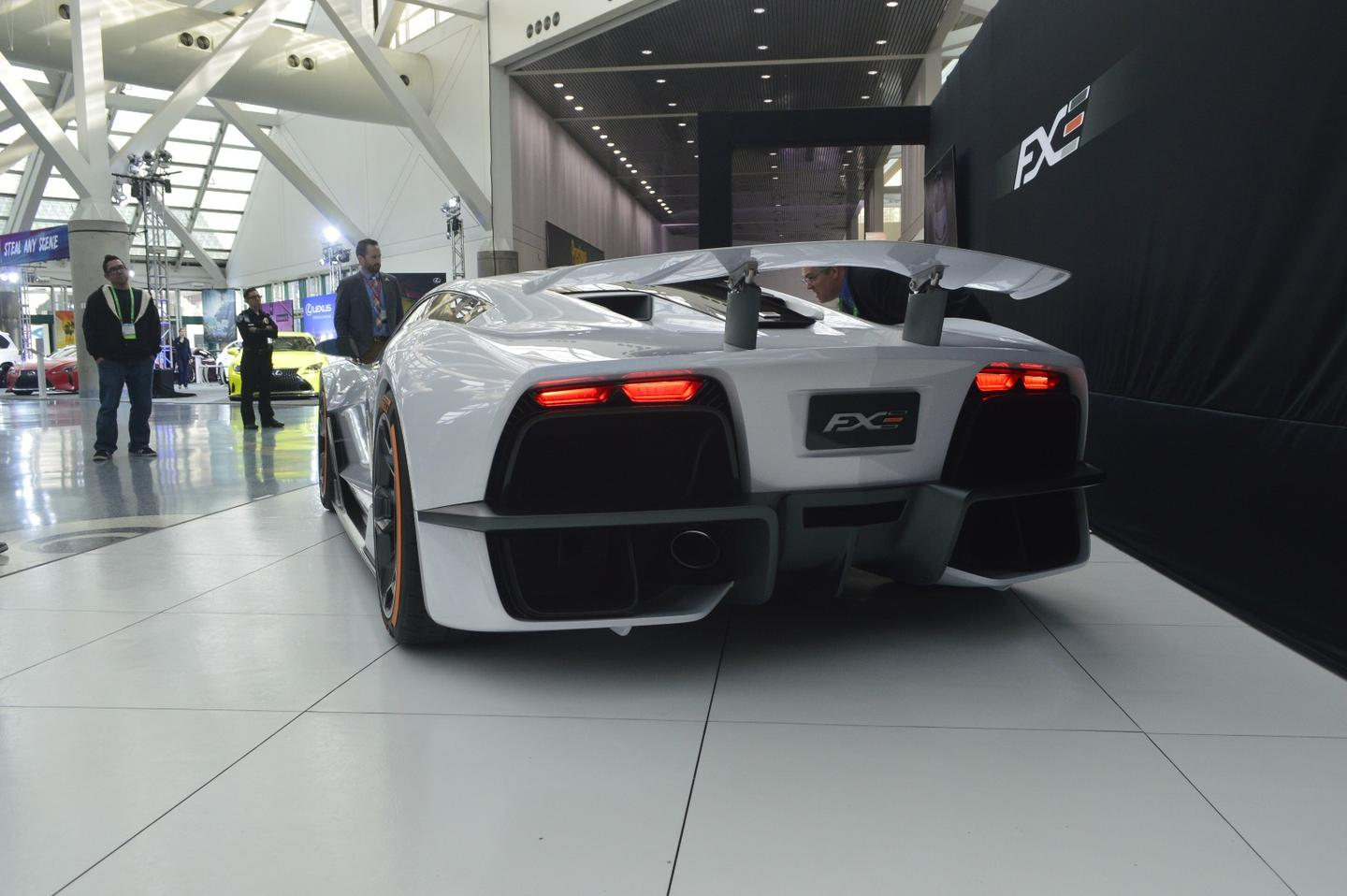 Aria's new FXE hypercar  made its debut at the 2017 LA Auto Show