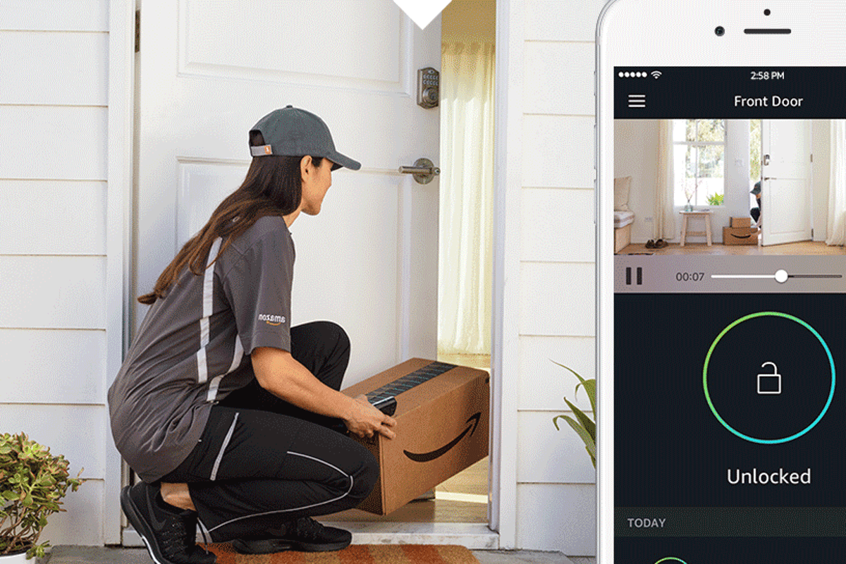 Users of Amazon's Key service can watch on in real-time through the Cloud Cam or review the video afterwards