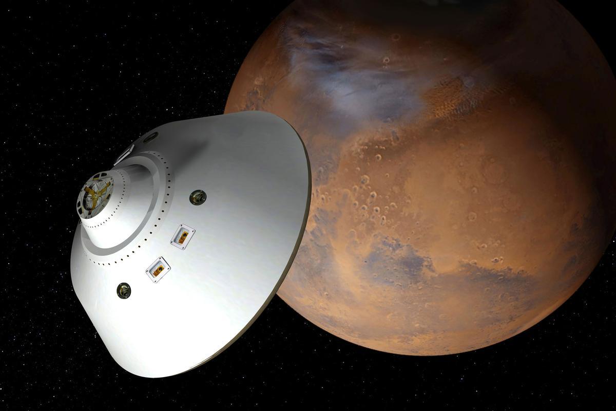 Artist's concept of the Mars Sample Retrieval mission aeroshell