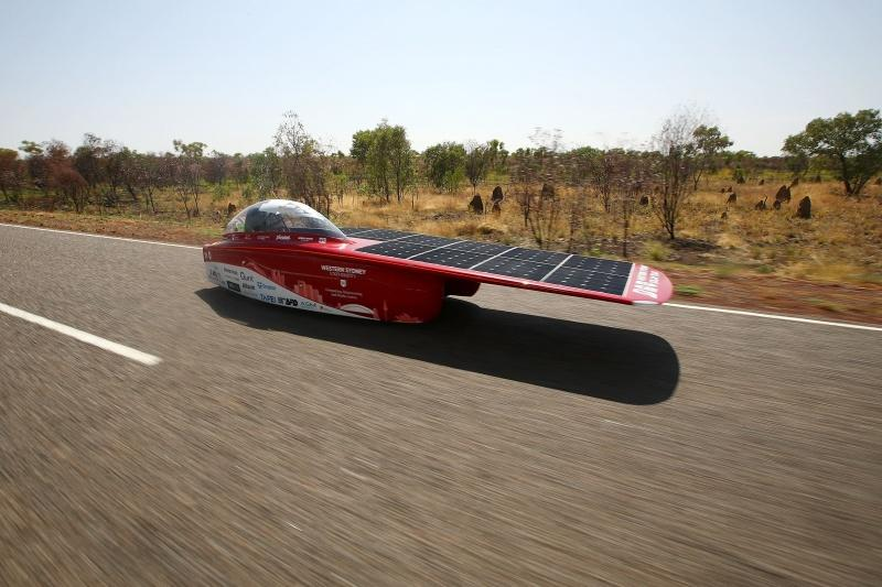 Australia's Western Sydney Solar Team finished third on day one, but have now slipped back to seventh