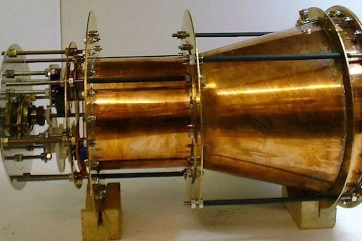 A prototype of the EMDrive, which can apparently produce thrust without fuel