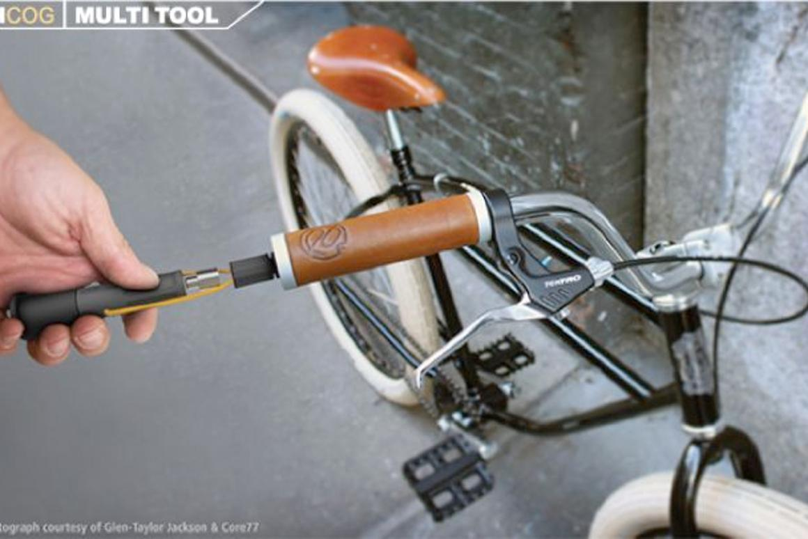 Incog takes the tools out of your pack and stores them in the bike
