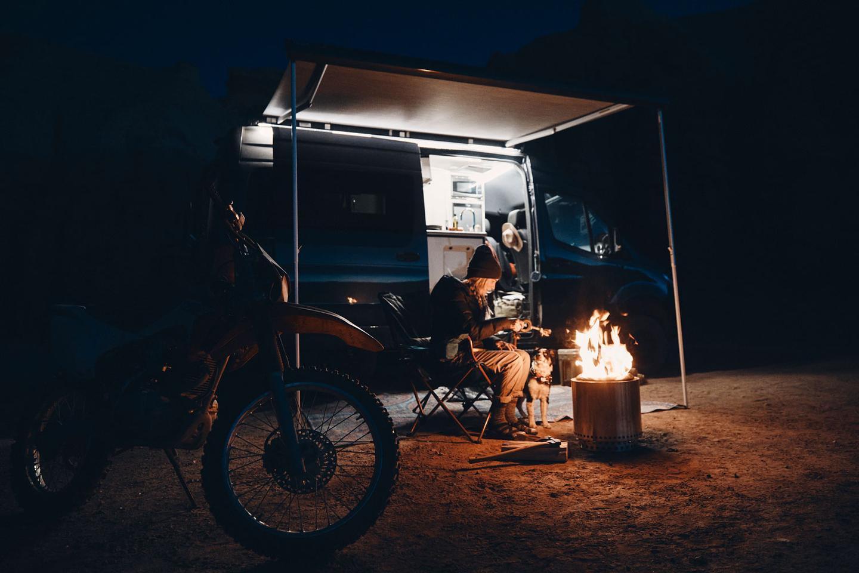 Professional athlete, adventurer and Sanctuary dweller Kalen Thorien enjoys base camp