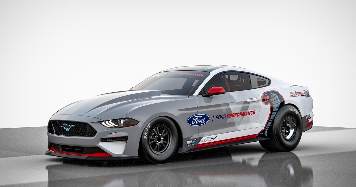 Ford uncages 1,400-hp all-electric Mustang Cobra Jet dragster