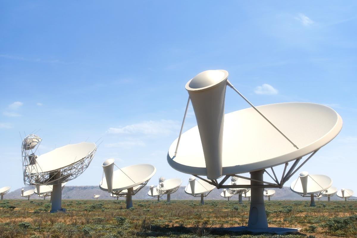An artist's impression of the SKA dishes in South Africa