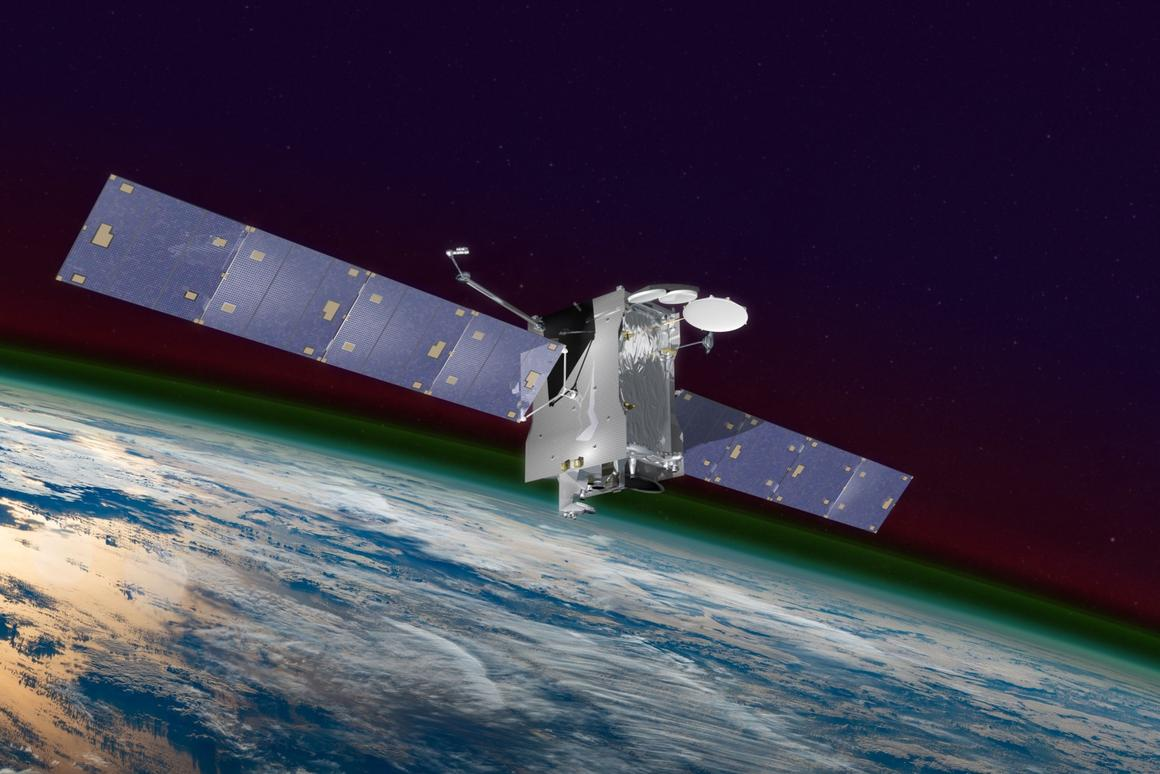 Artist's impression of GOLD and SES-14 in orbit