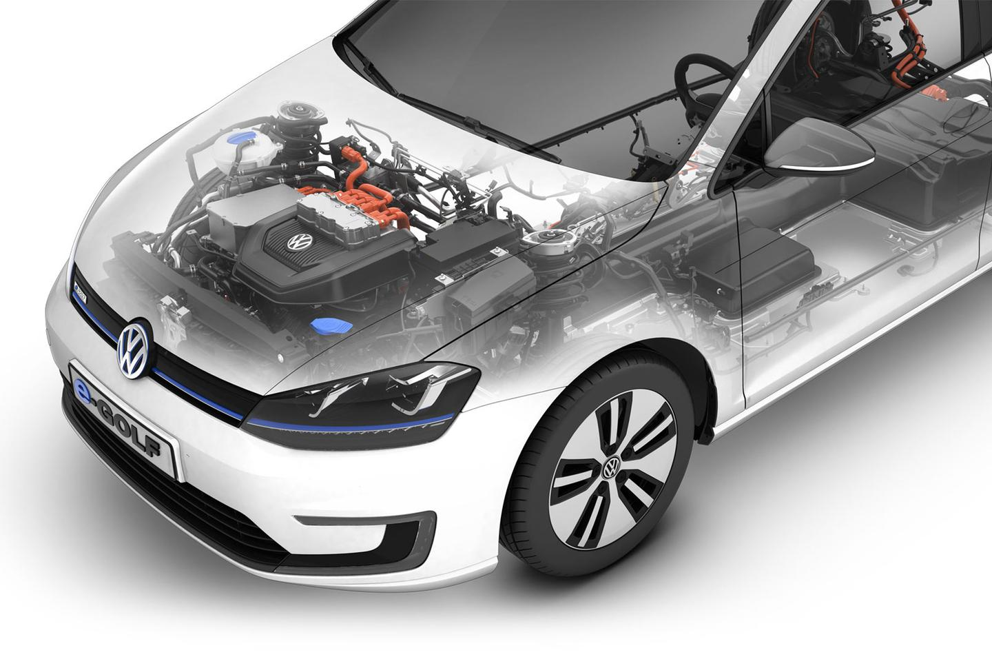 The e-Golf uses an 85 kW (114 hp) electric motor paired up to a 24.2 kWh lithium ion battery