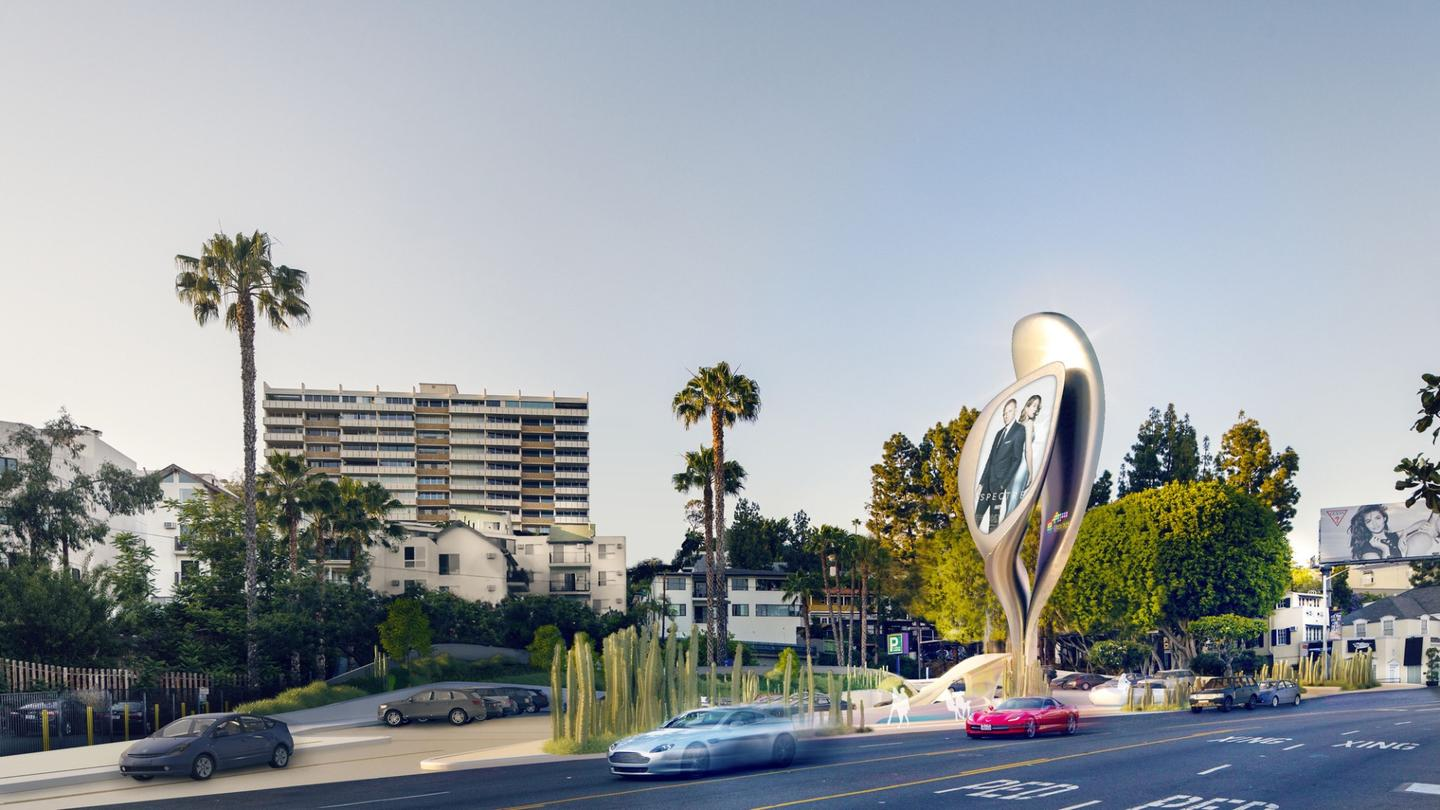 JCDecaux and Zaha Hadid Project Management's design, The Prism, would be constructed from recycled aluminum