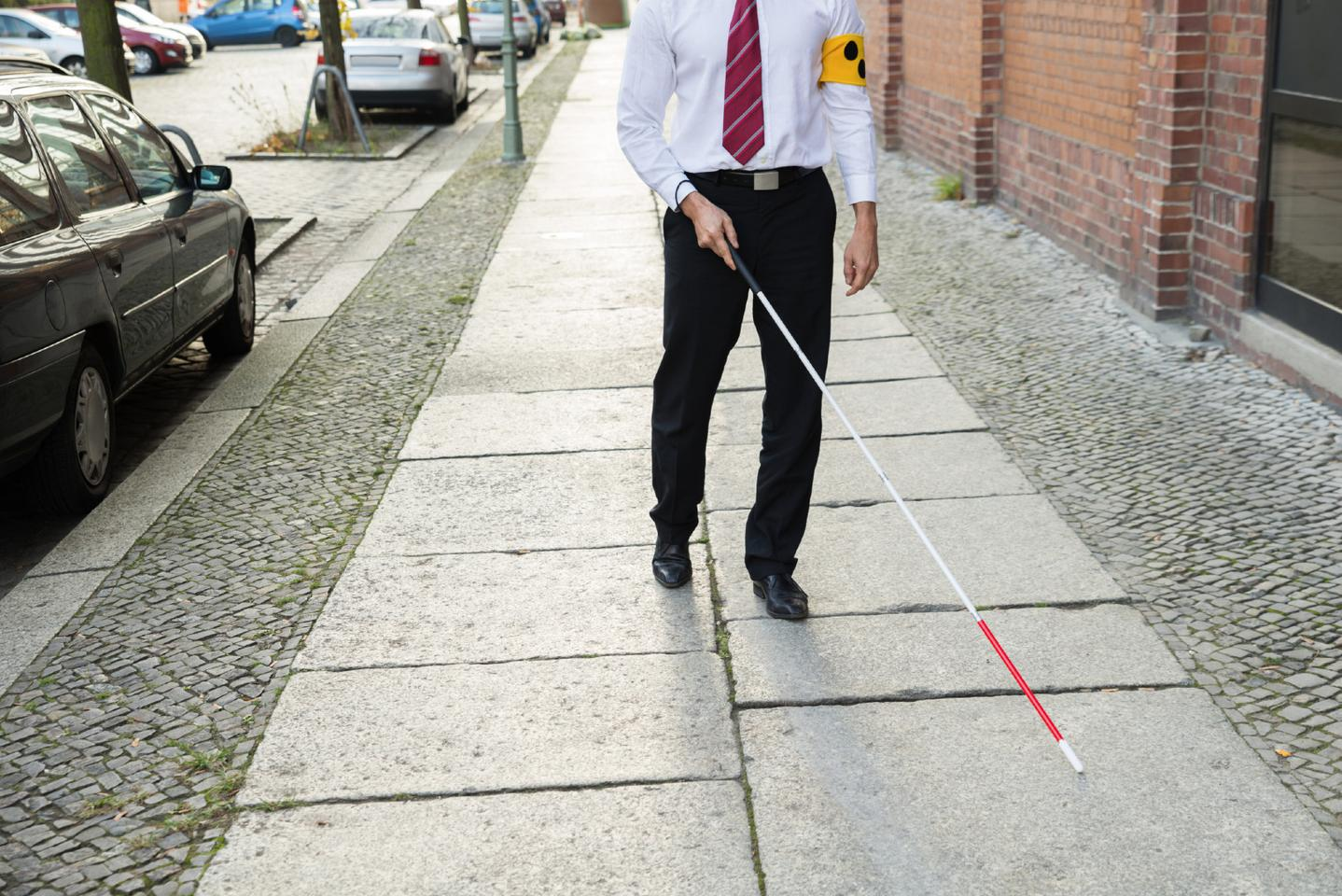 The XploR cane features facial recognition and GPS navigation systems (Photo: Birmingham City University)
