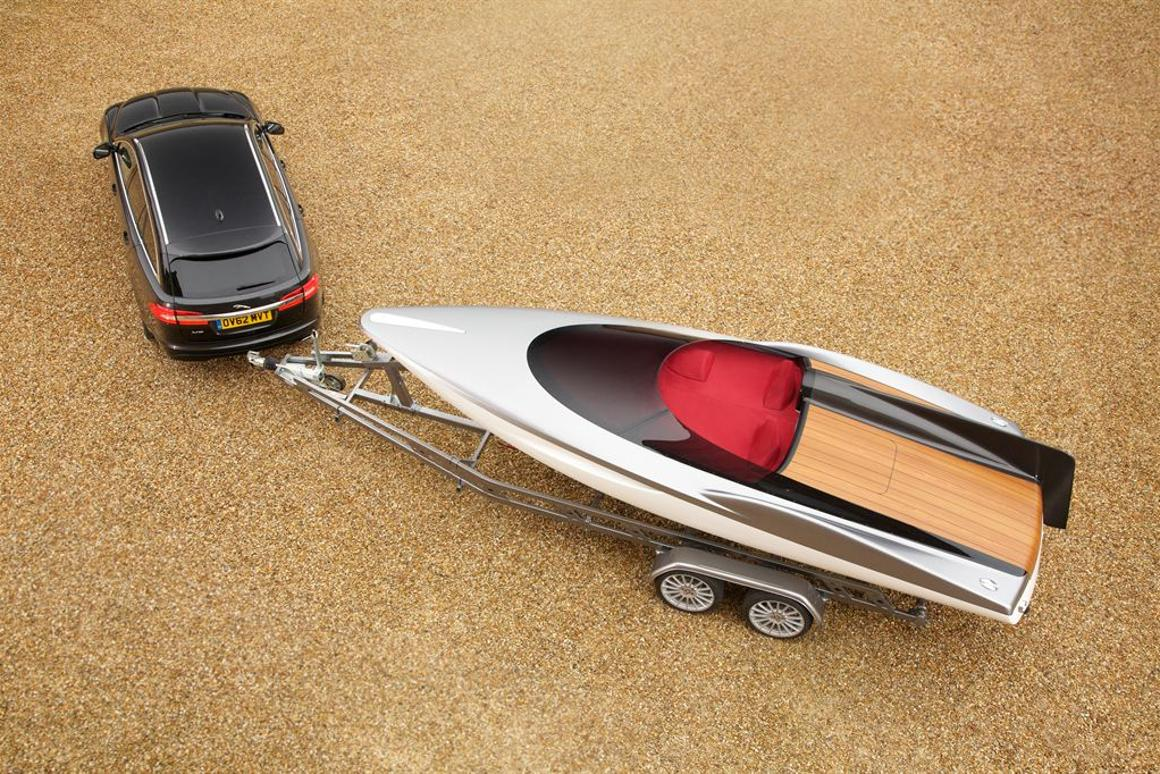 The Speedboat alludes to the sporting possibilities of the new XF, which goes on sale in Europe in November