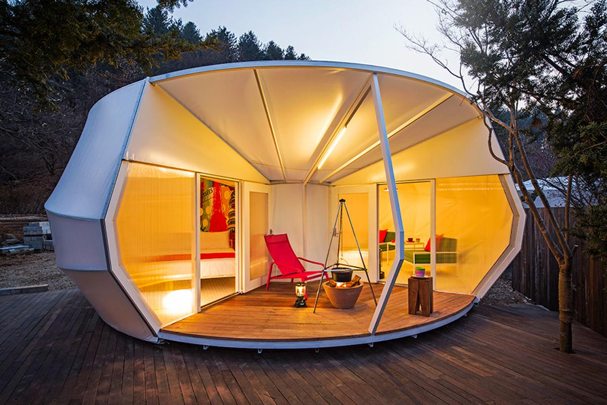 "South Korean design studio Archiworkshop has injected some serious style into its recently completed ""Glamping for Glampers"" project (Photo: June Young Lim)"