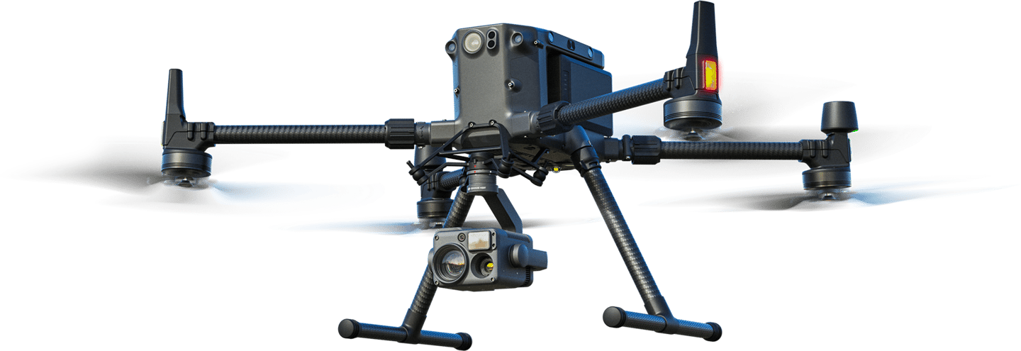 The Matrice 300 RTK drone has forward, back, left, right, up and down sensors for all-around obstacle detection