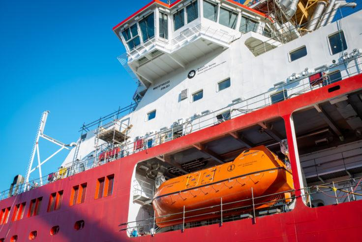 The lifeboats are designed to operate in polar conditions