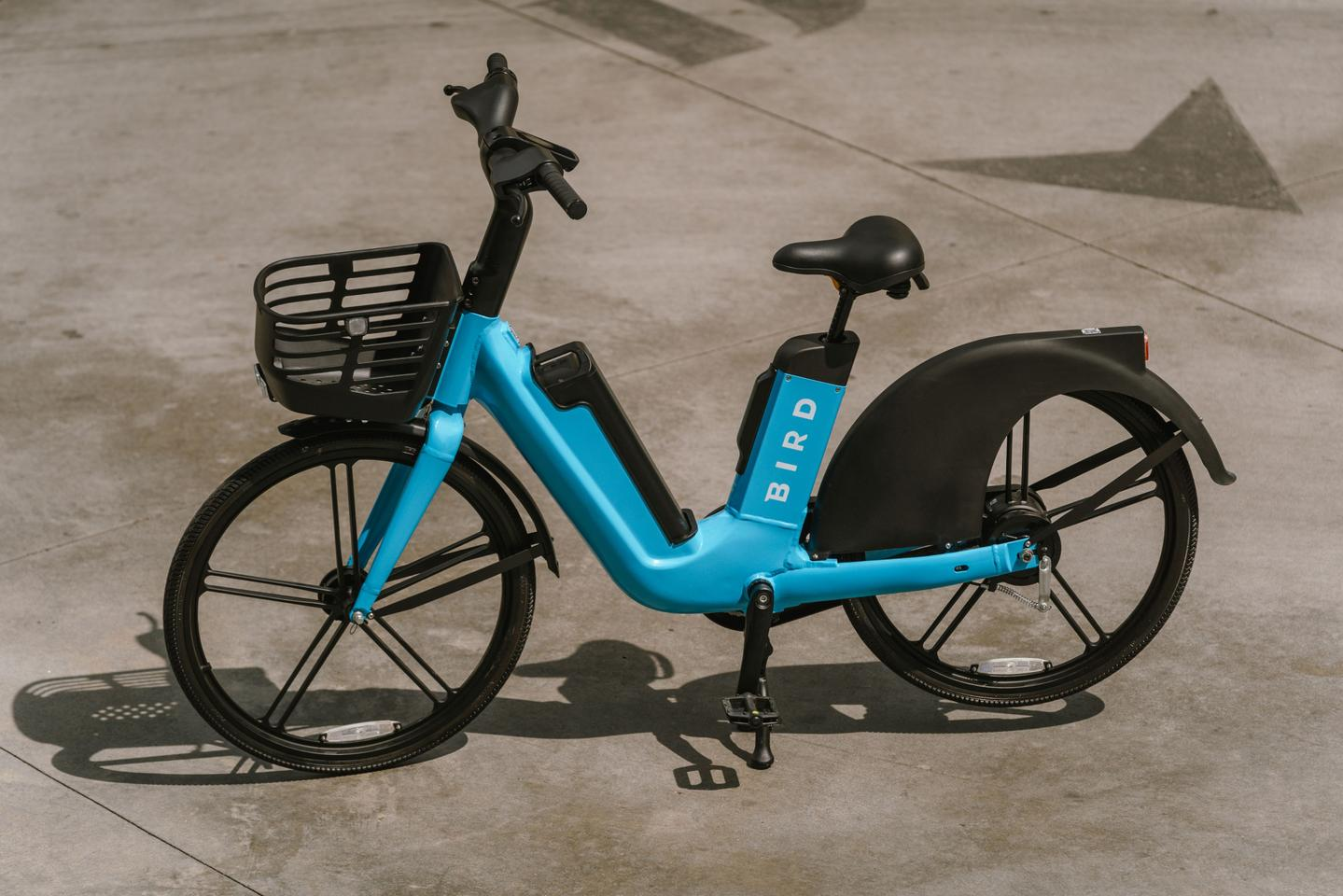 The Bird Bike features a 75-lb step-through frame for easier mount and dismount