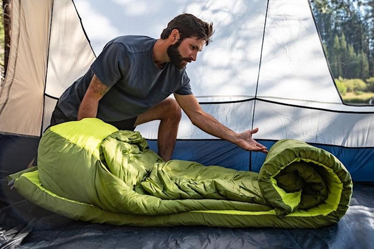 Setting up the Zenbivy Motobed is as simple as rolling it out and allowing the mattress to self-inflate