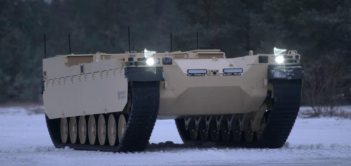 THe Type-X is designed to support main battle tanks in the field