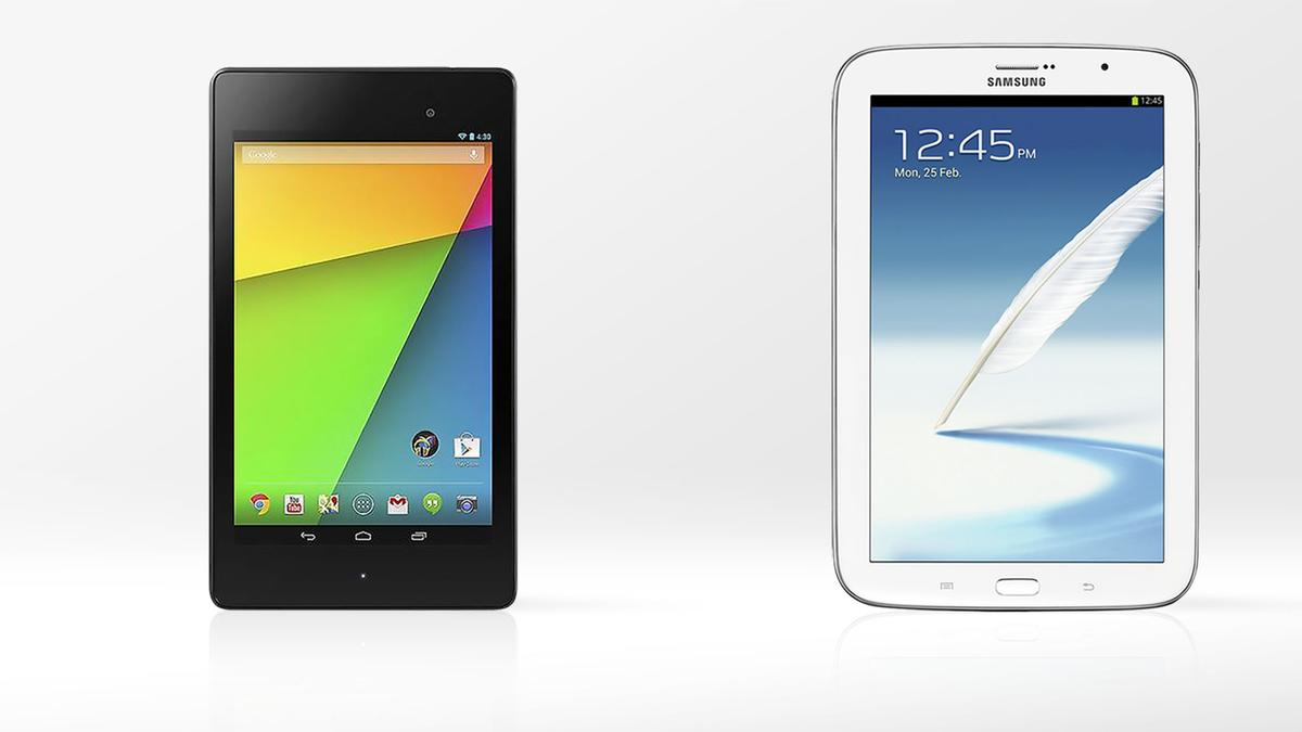 Gizmag compares the specs and features of the 2013 Nexus 7 and the Samsung Galaxy Note 8.0
