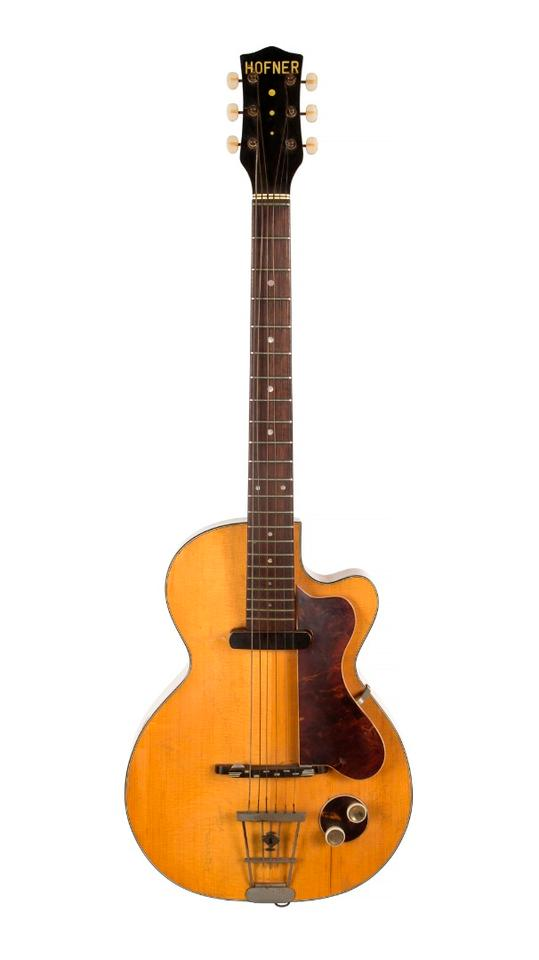 George Harrison's Hofner Club 40 electric guitar: Lot 550, estimate $200,000 - $300,000