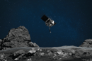 Artist's concept of OSIRIS-REx moving in to take a surface sample