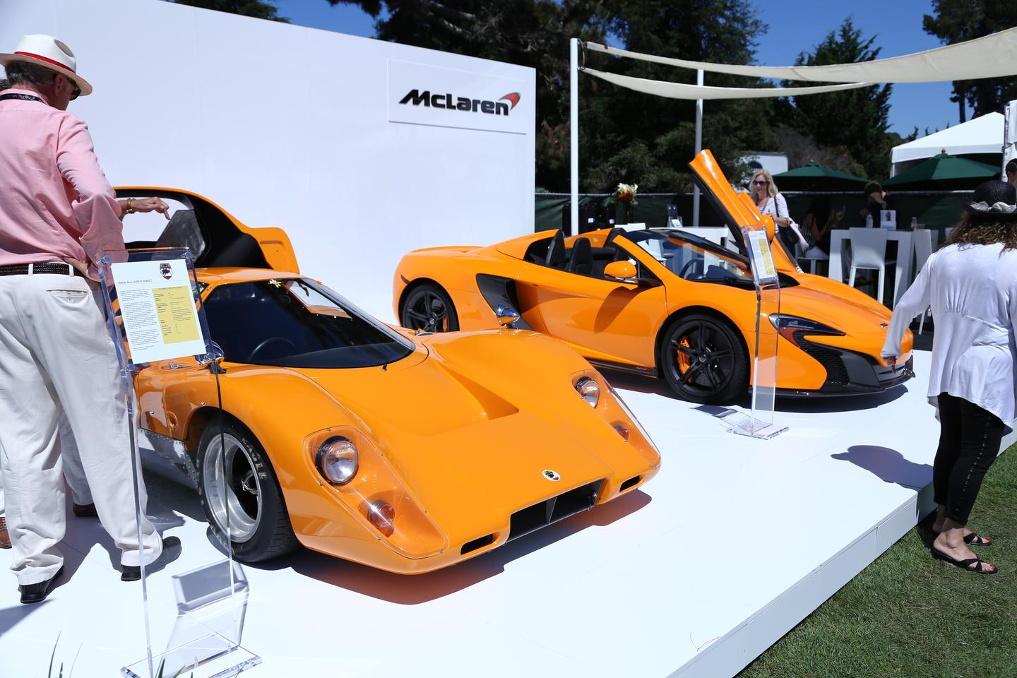A McLaren 650S Spider on display with a 1969 M6GT at the Quail Motorsports event (Photo: Angus MacKenzie/Gizmag.com)