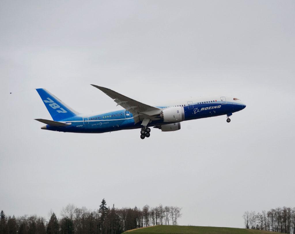 Boeing 787 Dreamliner first flight (Photo: Boeing)
