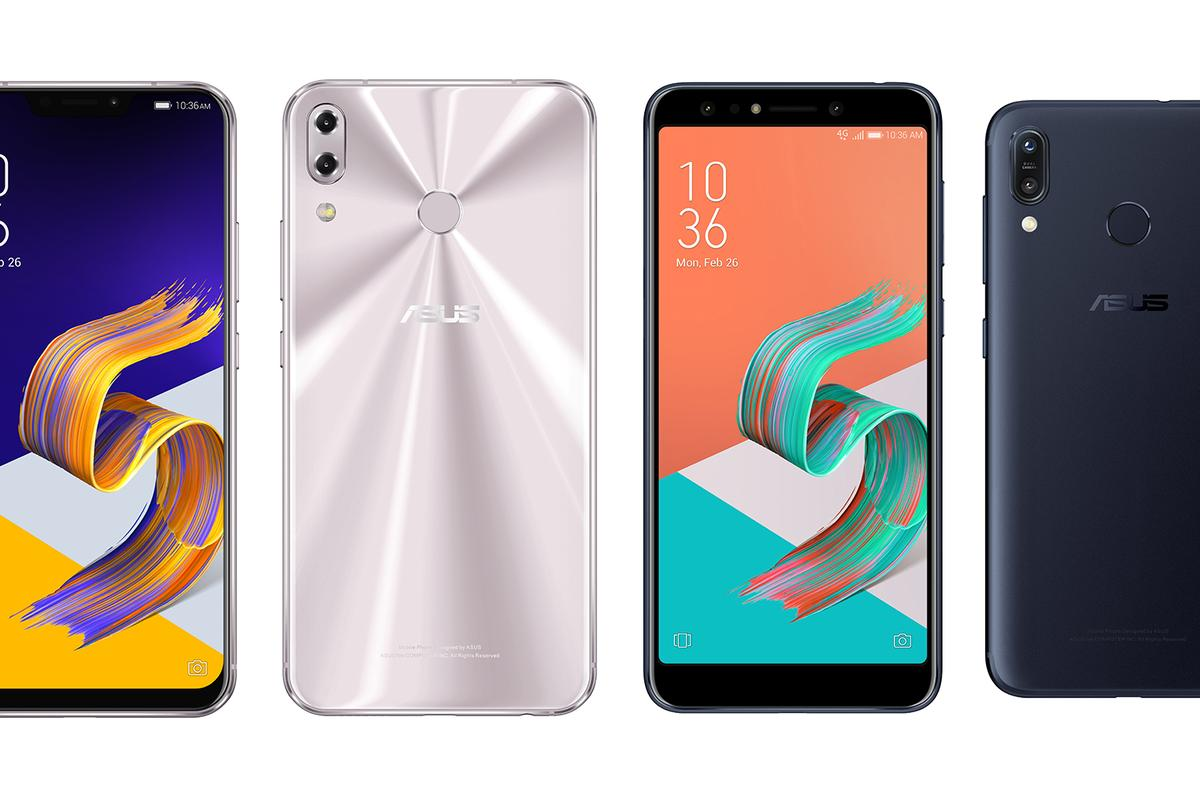 The new Asus ZenFone 5 range, unveiled at MWC 2018