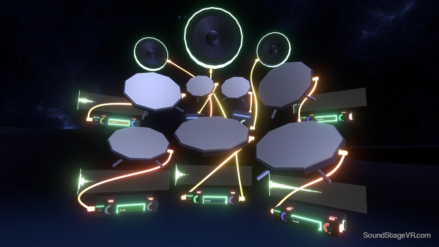 The program gives you a virtual drum kit, so you can rock out to your heart's content without bugging the neighbors