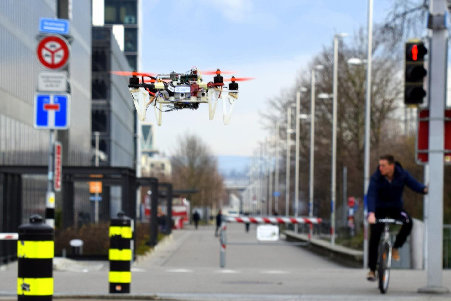 Researchers have developed a control algorithm for drones that sees them imitate the movement ofbikes and cars through urban areas