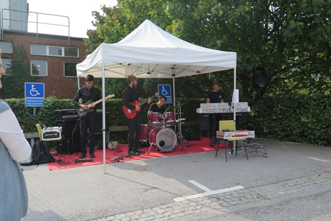 A picture of the band, from Lund University's Malmö Academy of Music, in sound-check