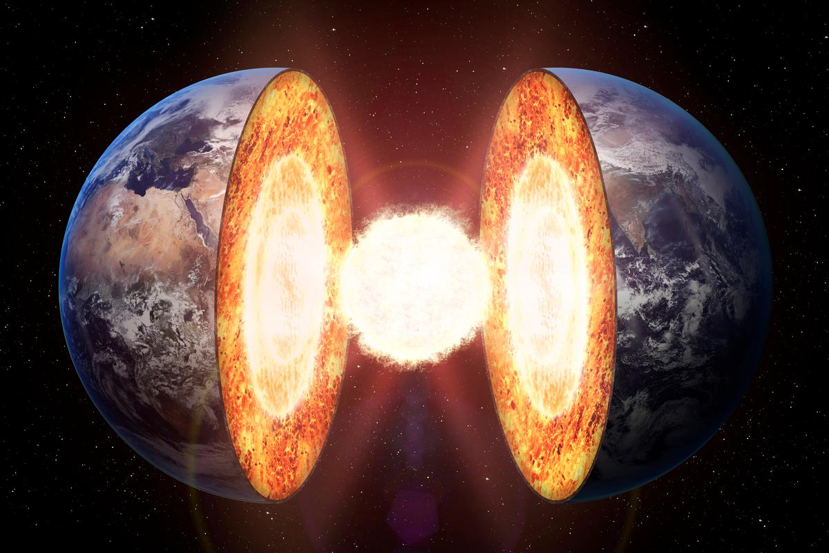 """Geologists have found evidence to suggest """"iron snow"""" falls in the Earth's core"""