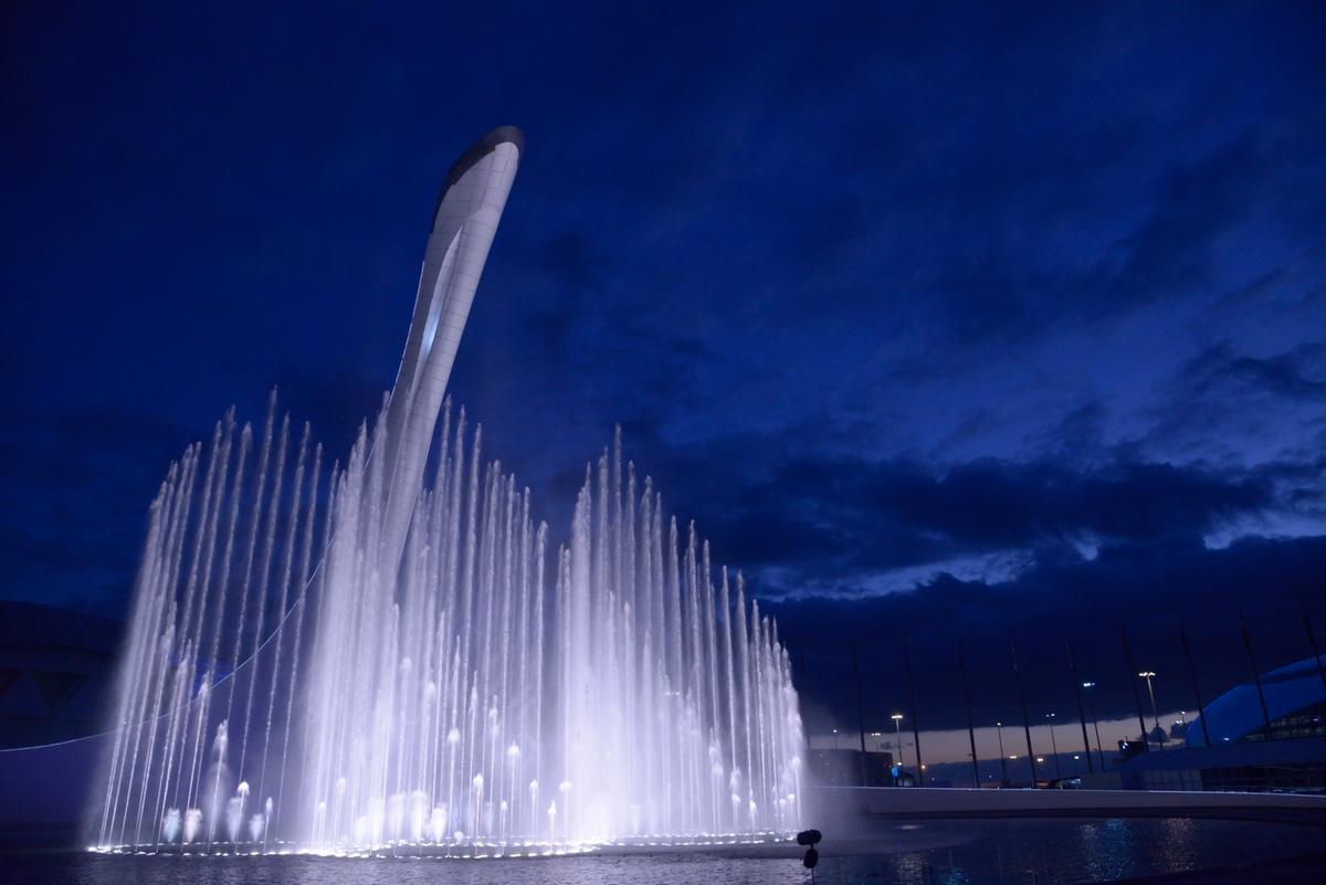 """""""The Waters of Olympic Park"""", Sochi (Photo: WET)"""