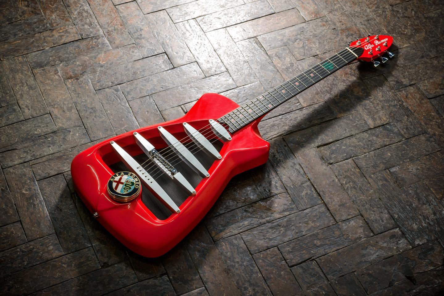 The Alfa Romeo guitar from Harrison Custom Guitar Works