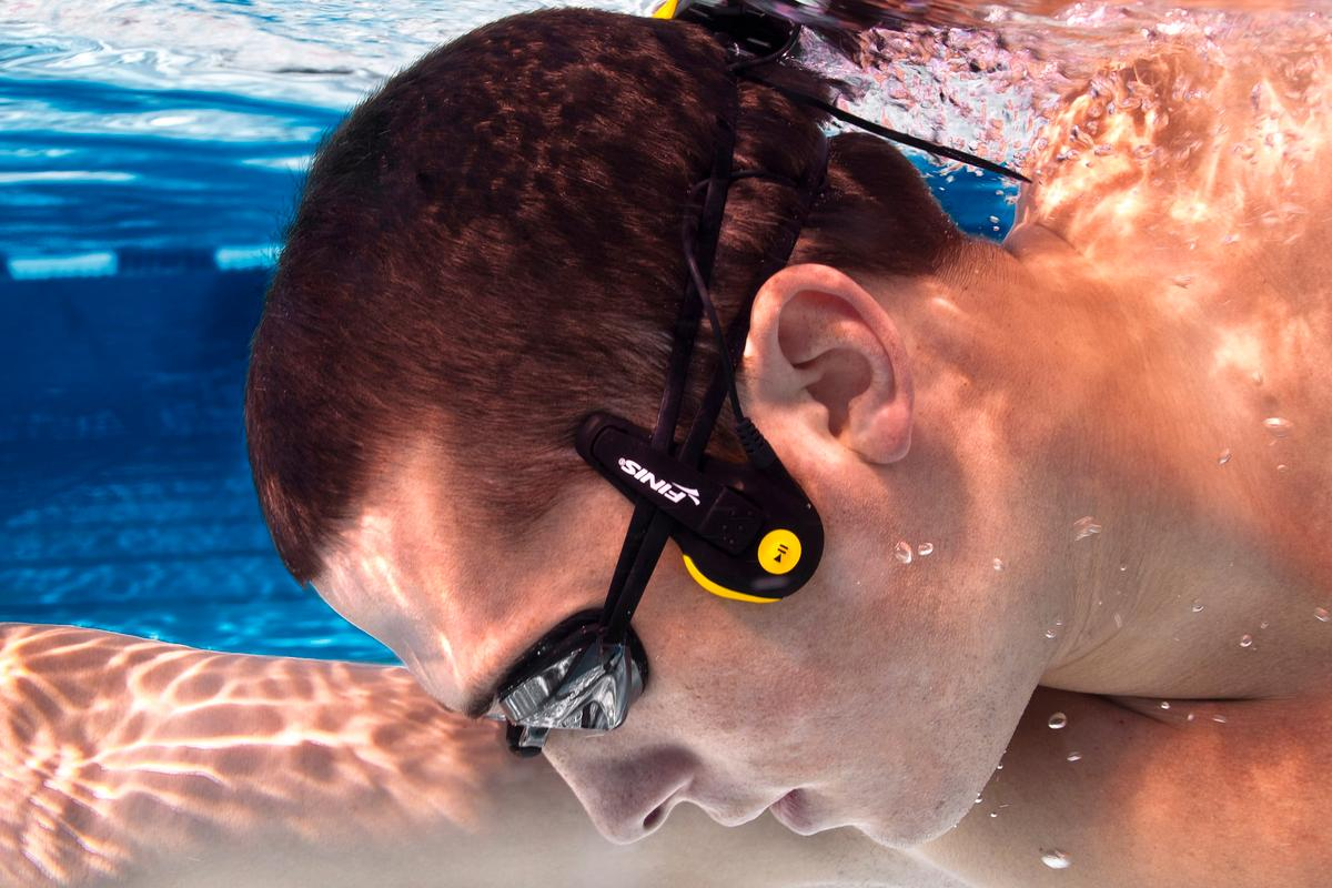 The new Finis Neptune waterproof audio player