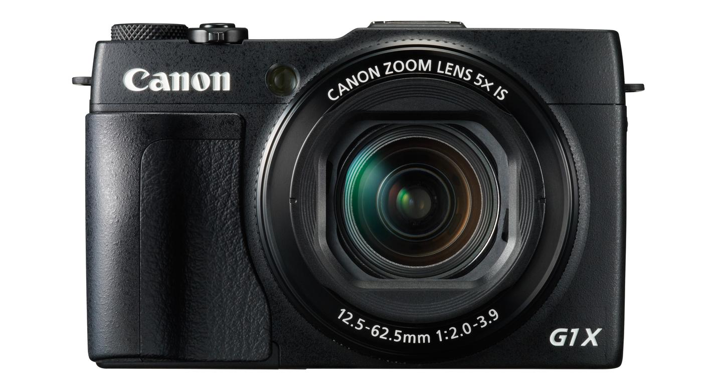 Canon PowerShot G1 X Mark II features a large 1.5-inch type sensor and 24-120-mm F2.0-F3.9 lens