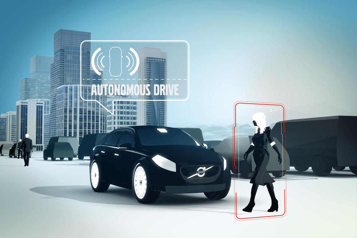Vehicle sensors and cameras scan for pedestrians and vehicles, then trigger braking and steering adjustments as needed